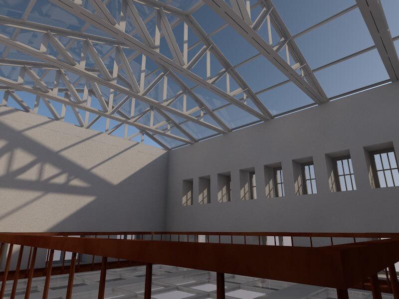Progetto della nuova copertura del Salone dell'Ambasciata Italiana a Mosca